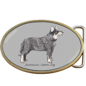 Australian Cattle Dog Belt Buckle. Code A0040